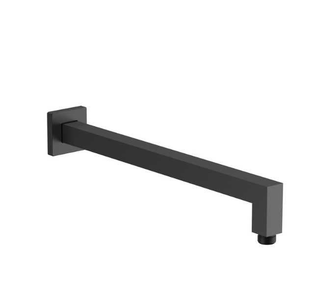Black Square Shower Arm BKS08A-B