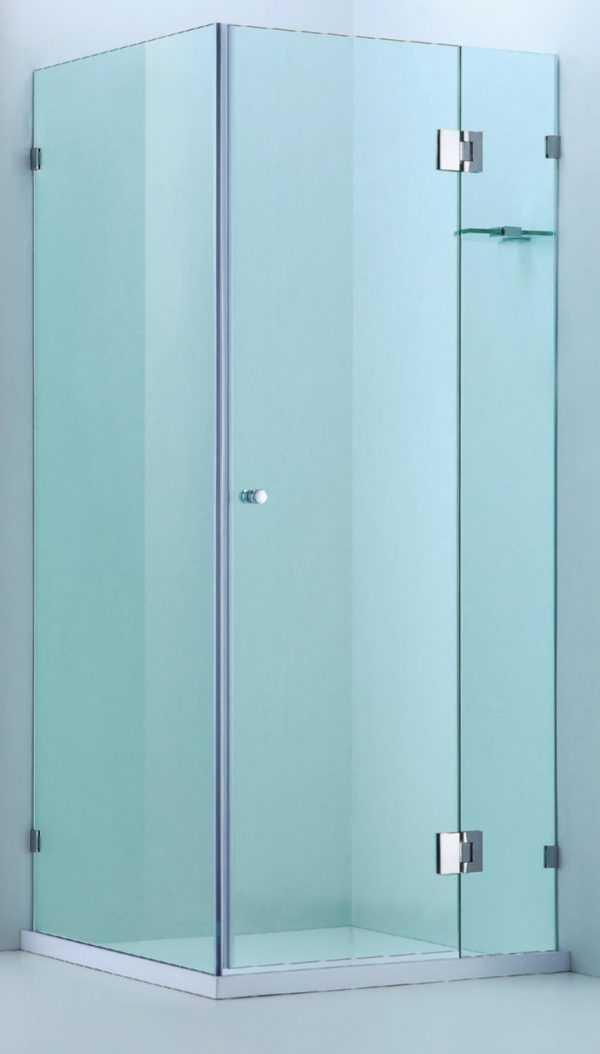 1100X1100mm Frameless Square Showerscreen