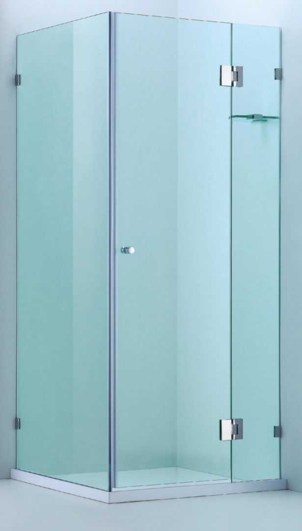 900X900mm Frameless Square Showerscreen