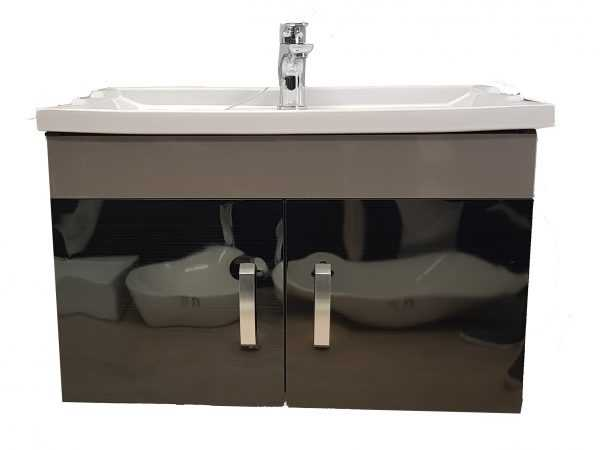 900mm Grey Wall Hung Vanity with Ceramic