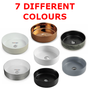 355mm Ceramic Round Basin (7 Colours)