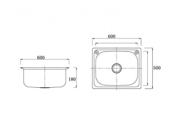 610mm Laundry Sink 2