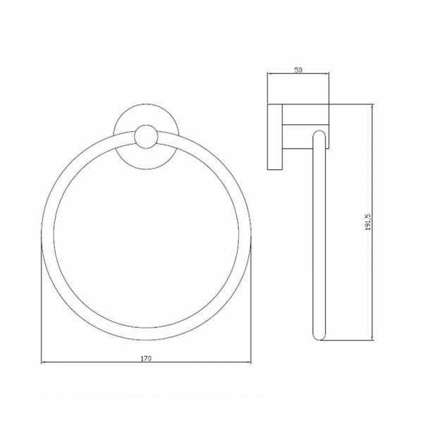 Round Towel Ring (Chrome) 400 Series 2