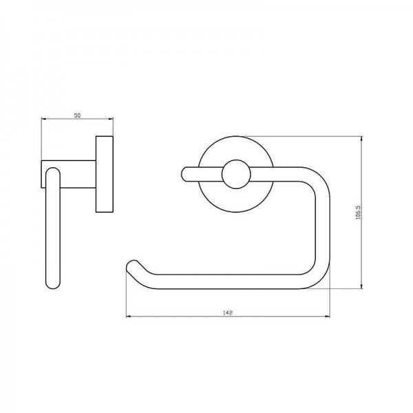 Round Toilet Roll Holder (Chrome) 400 Series 2