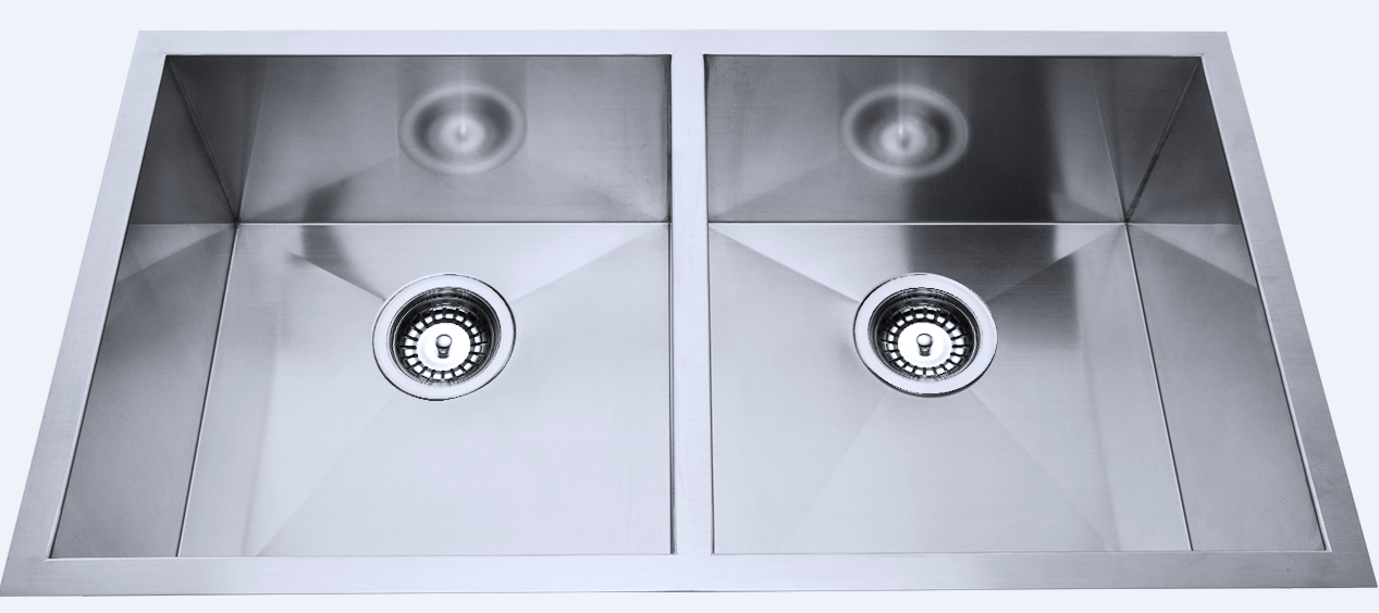 760x440x230mm Above/Undermount Double Bowl Sink