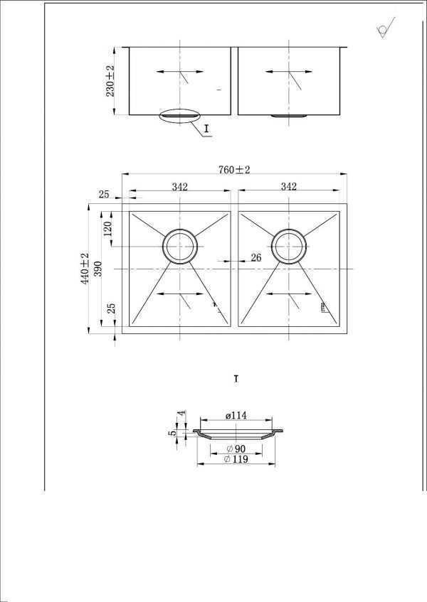 760x440x230mm Sink