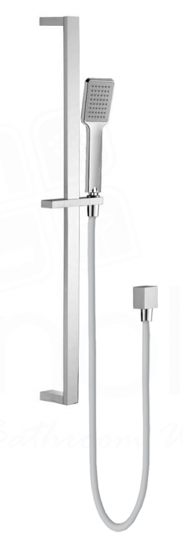 Square Hand Shower on Rail