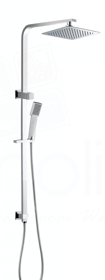 ECKIG Square Twin Shower System on Rail