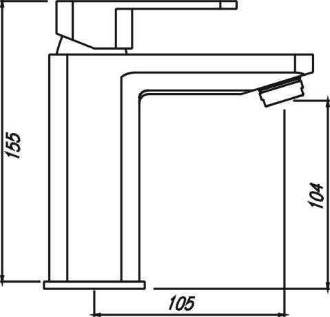 ELEGANT Chrome Basin Mixer (high spout) 3