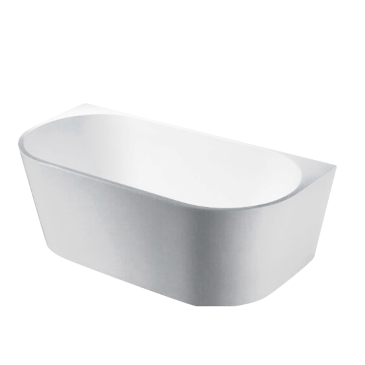 ELIVIA 1500mm Matte White Back to Wall Bathtub