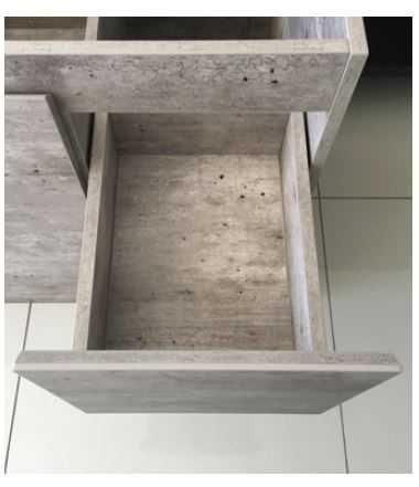 750mm Industrial Edge Vanity with Ceramic Top 3