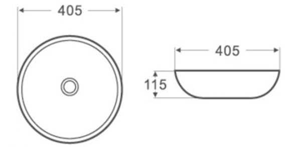 405mm Round Above Counter Basin 2