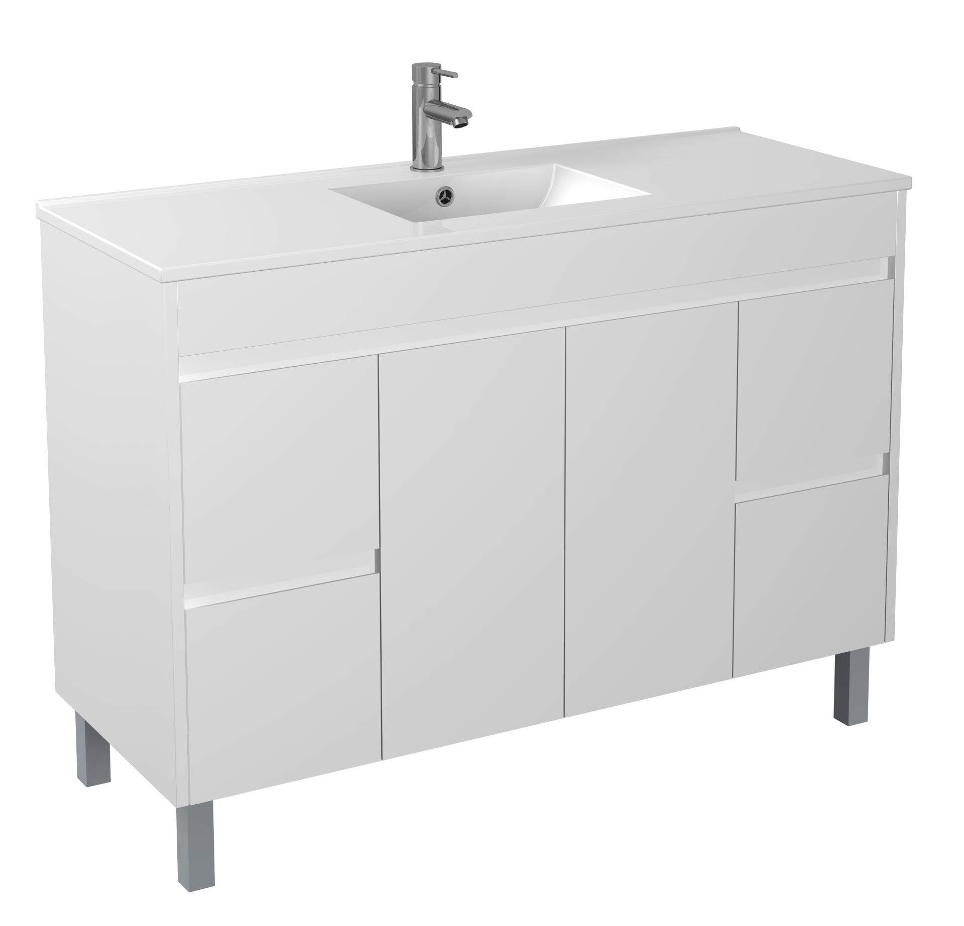 1200mm PVC Waterproof Vanity on Legs