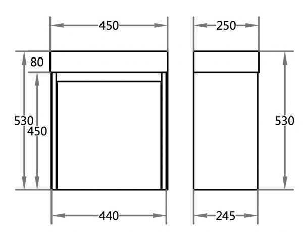 450mm PVC Waterproof Wall Hung Vanity