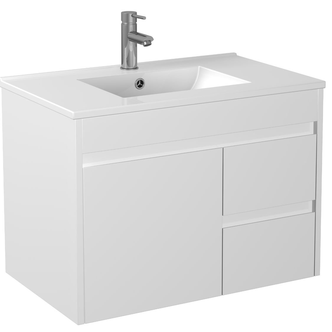 750mm PVC Waterproof Wall Hung Vanity