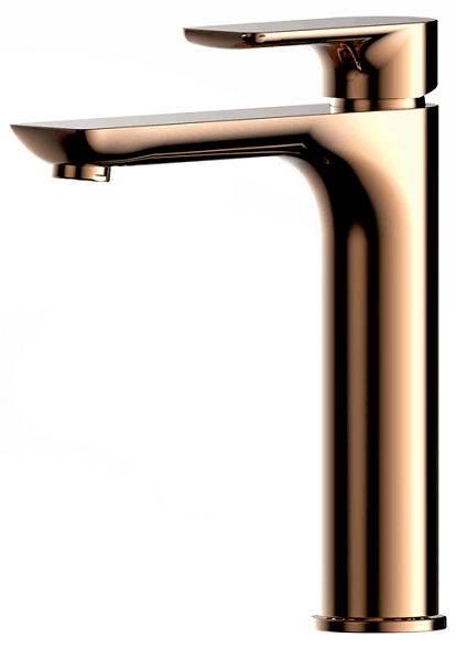 PLUSH Rose Gold Tall Basin Mixer