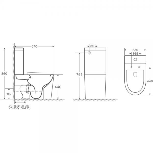 VERA Tornado Flush Toilet Suite 3