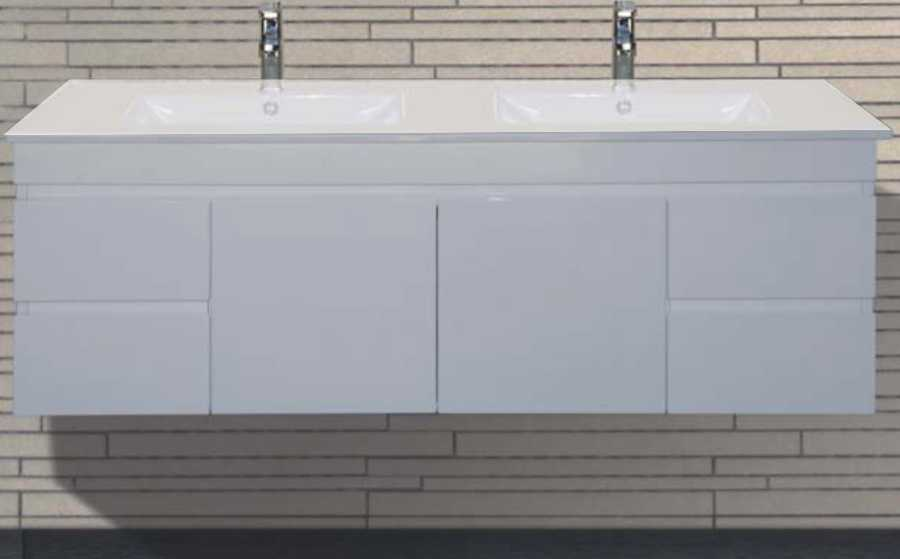1500mm Wall Hung Vanity Double Bowl