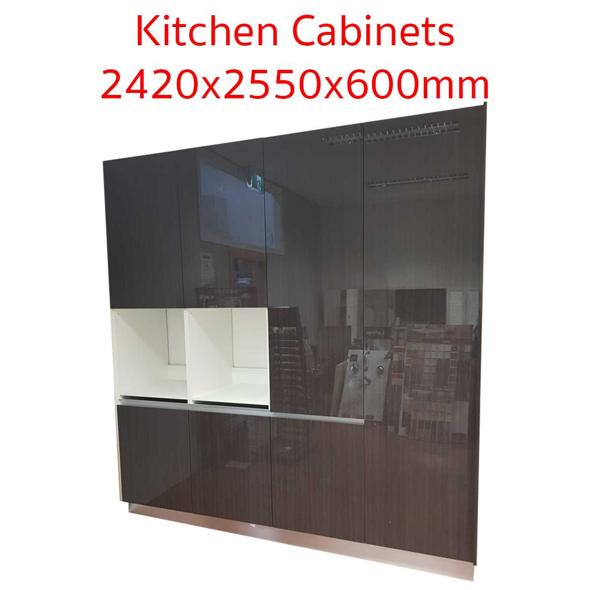2420mm Tall Kitchen Cabinets with Pantry