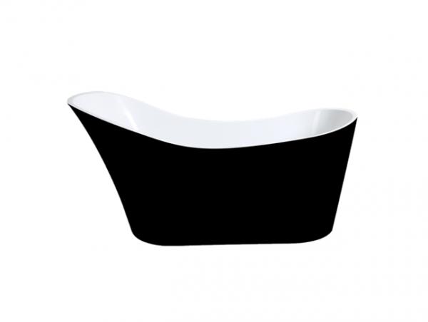 BEVEL 1700mm Black and White Slipper Freestanding Bathtub