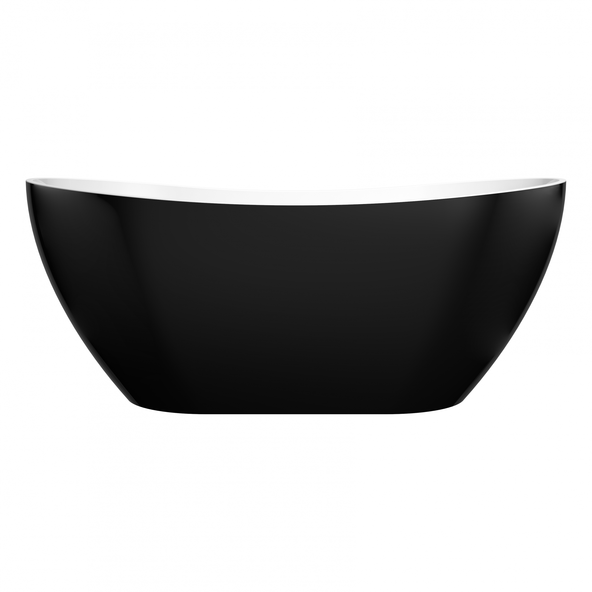 EVIE 1500mm Black Oval Freestanding Bathtub