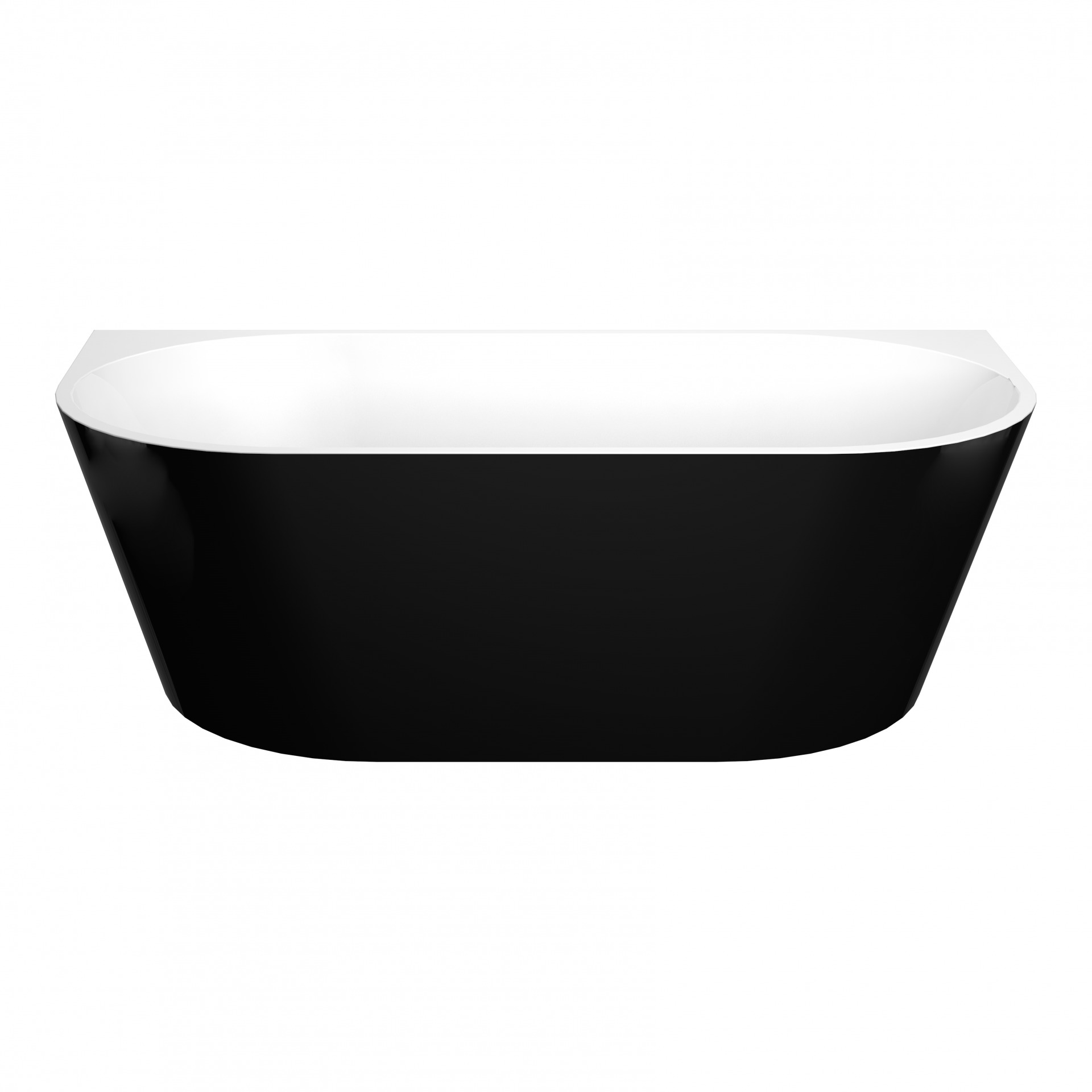 ELIVIA 1500mm Black Back to Wall Bathtub