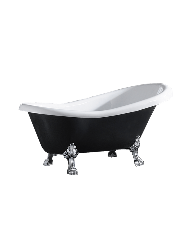 ESPADA 1700mm Black and White Clawfoot Freestanding Bathtub