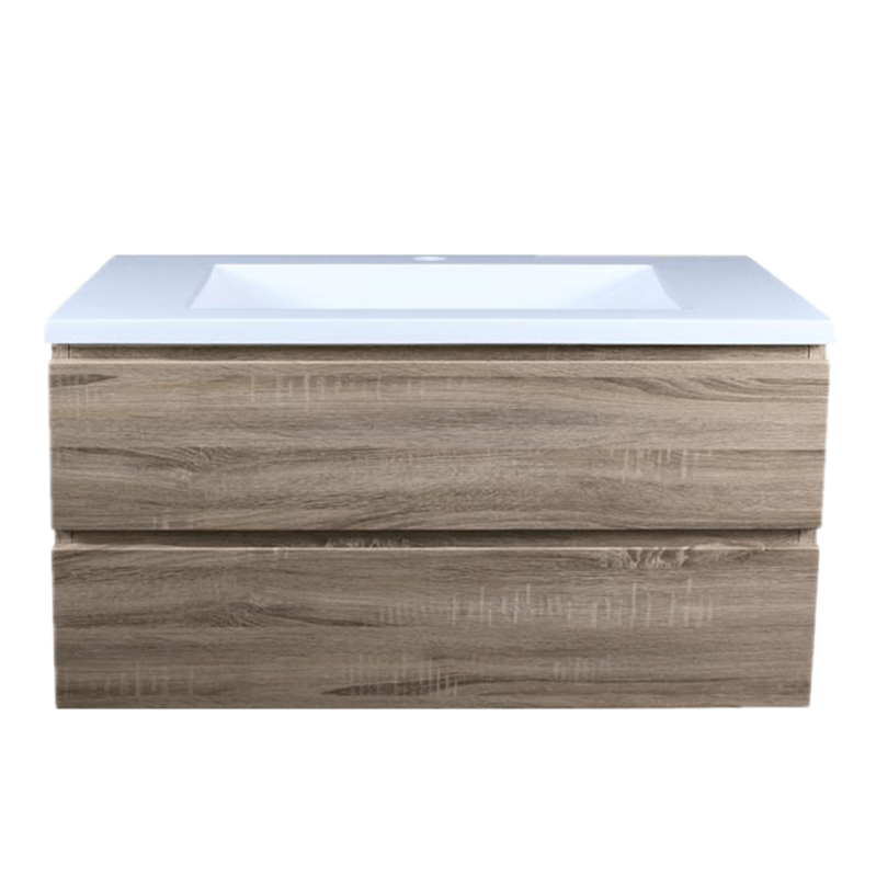 1200mm White Oak Wall Hung Drawer Vanity