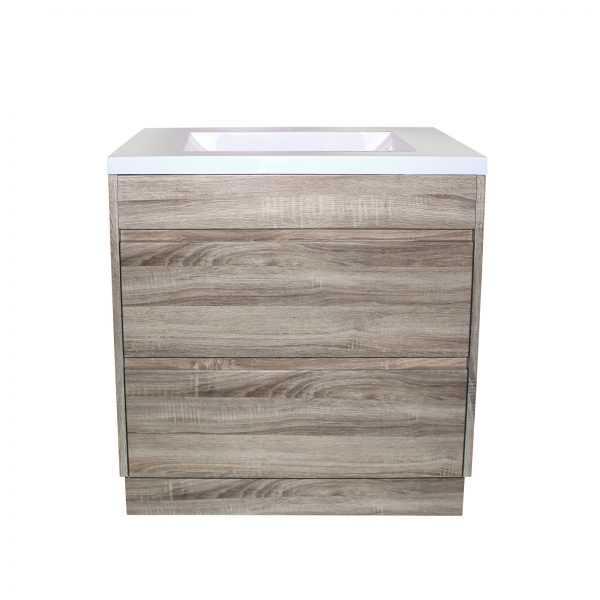 600mm White Oak Drawer Vanity on Legs 2