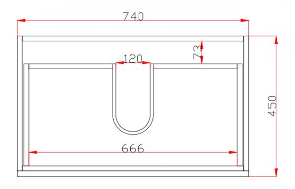 750mm Dark Oak Wall Hung Drawer Vanity 4