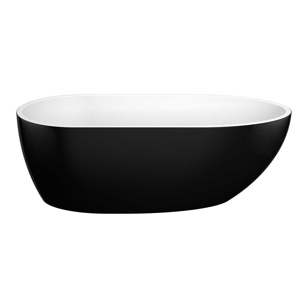 VEDA 1690mm Black and White Freestanding Bathtub