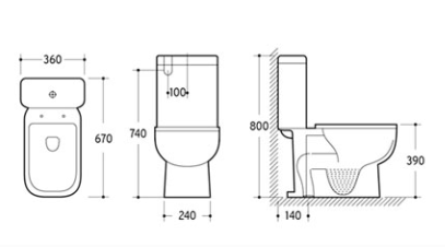 SIRIUS Back to Wall Toilet Suite 2