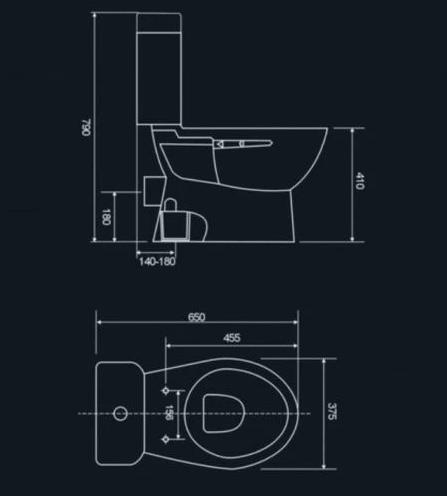 RICHMOND Closed Couple Toilet Suite 3