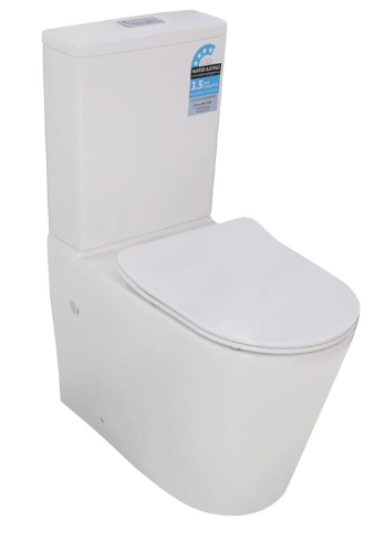 Rimless Flush Toilet Suite