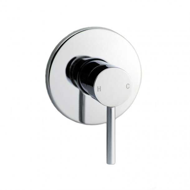 LUCID Chrome Shower/Bath Wall Mixer