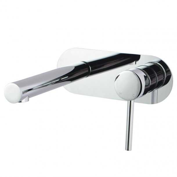 LUCID Chrome Bath/Basin Wall Mixer with Spout