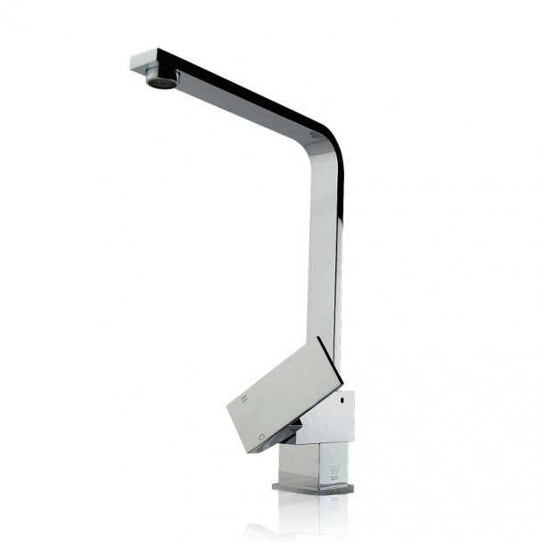Square Chrome Standard Kitchen Mixer
