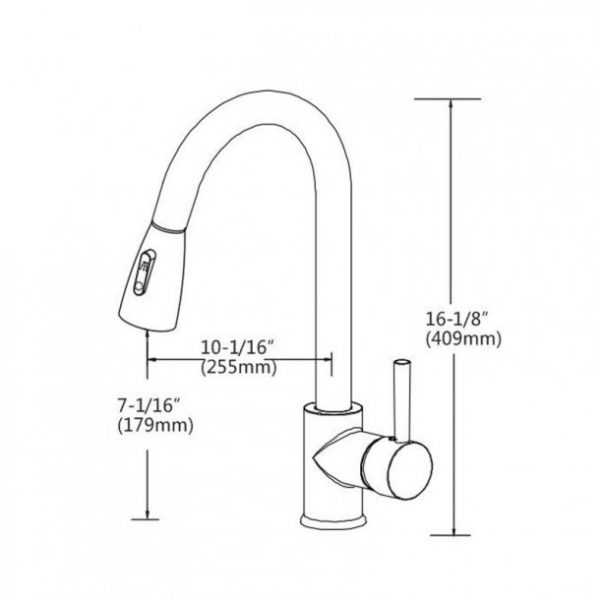 Round Chrome Pull Out Sink Mixer 5
