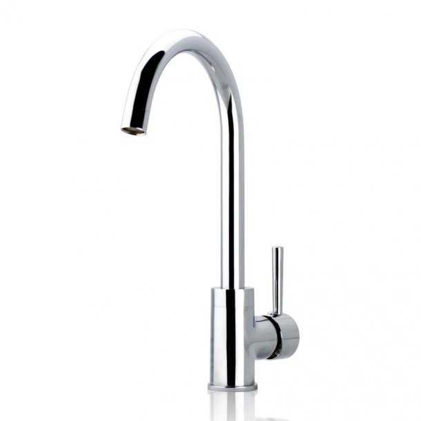 Round Chrome Standard Kitchen Mixer