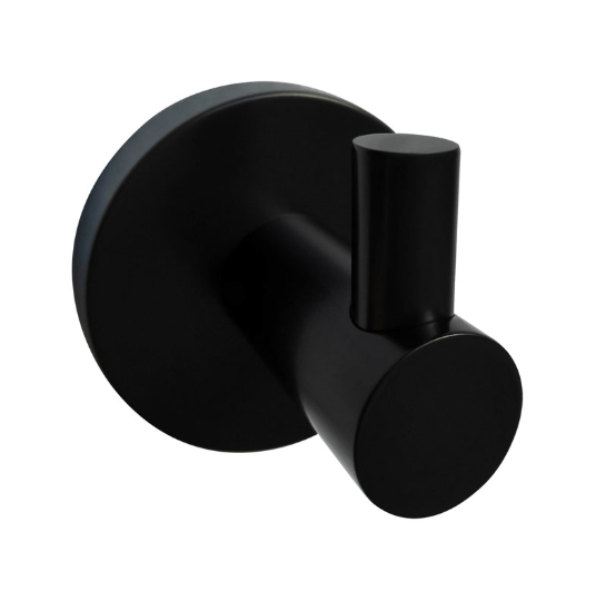Round Single Robe Hook (Matte Black) 400 Series