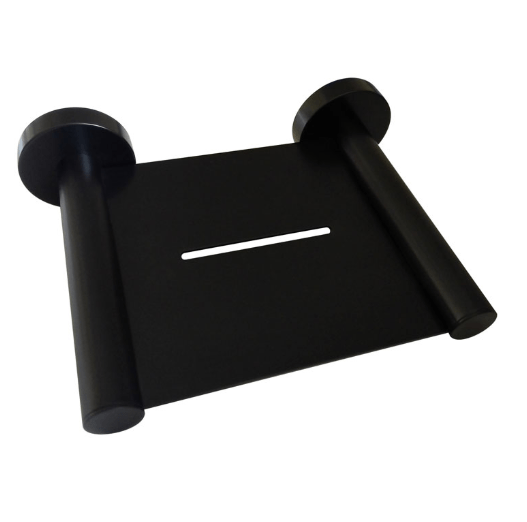 Round Metal Soap Tray (Matte Black)