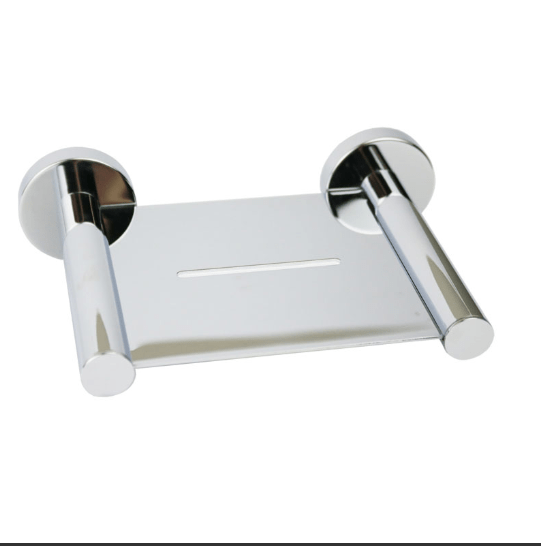 Round Metal Soap Tray (Chrome)