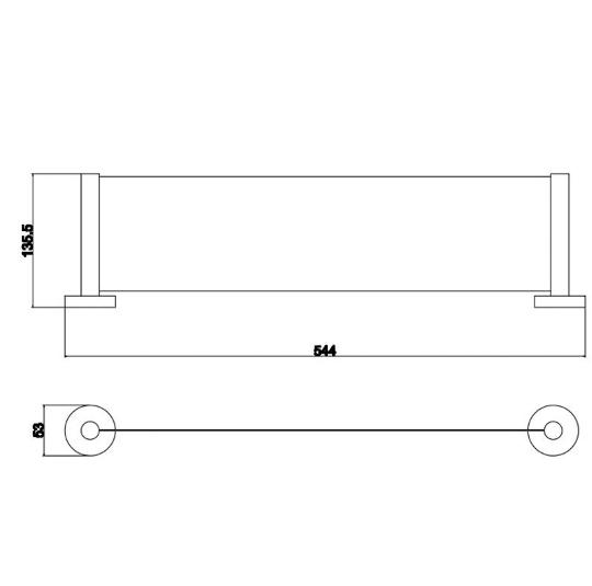 Round Metal Shower Shelf (Matte Black) 2
