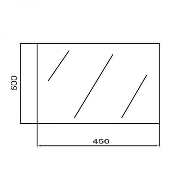 450x600mm Pencil Edge Mirror 2