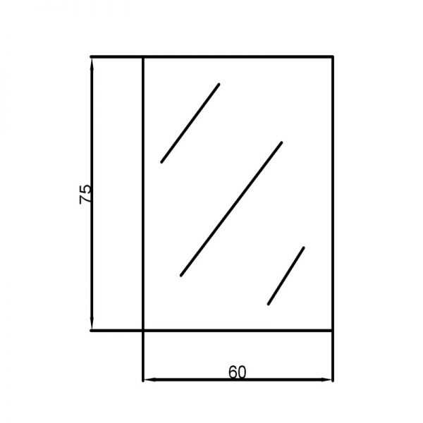 600x750mm Pencil Edge Mirror 2