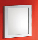 750x750mm White Frame Mirror
