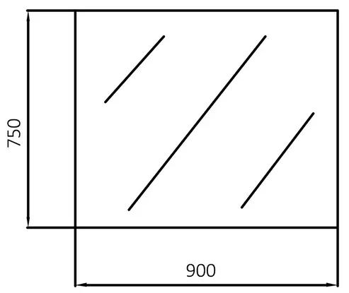 900x750mm LED Rectangular Mirror 4