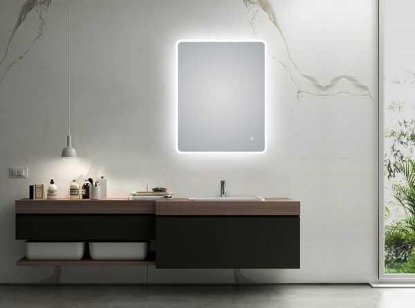 600x750mm LED Rectangular Mirror 4