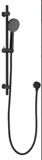 Black Round Hand Shower on Rail