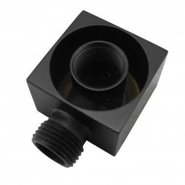 Square Black Handheld Shower With Rail 2